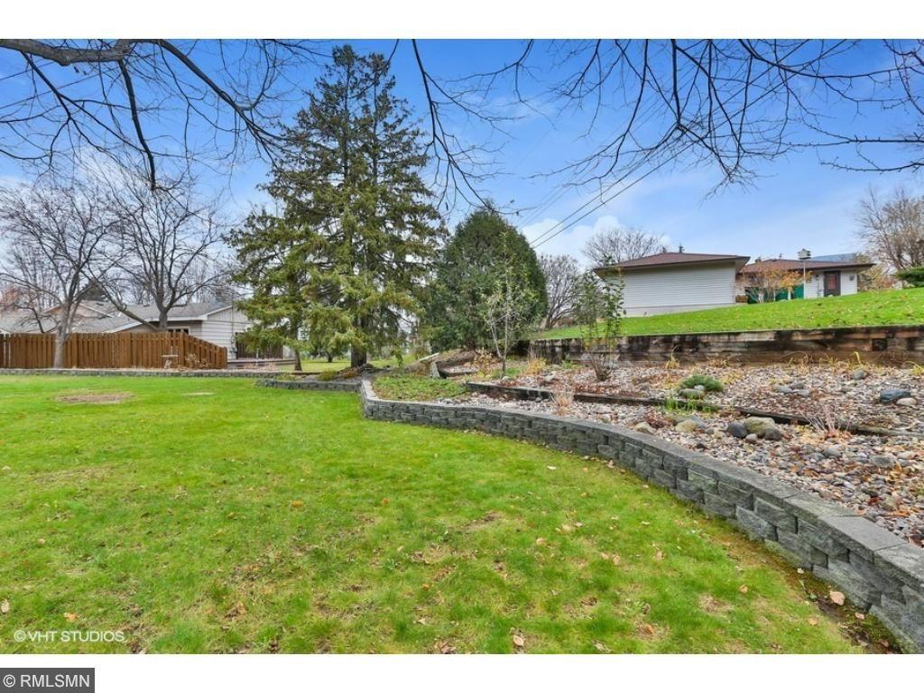 Extensive landscaping in backyard. Great West Bloomington Neighborhood!