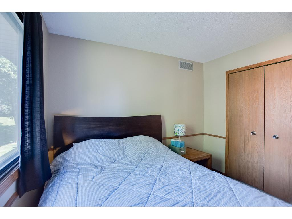 Room for a queen size bed & night stand