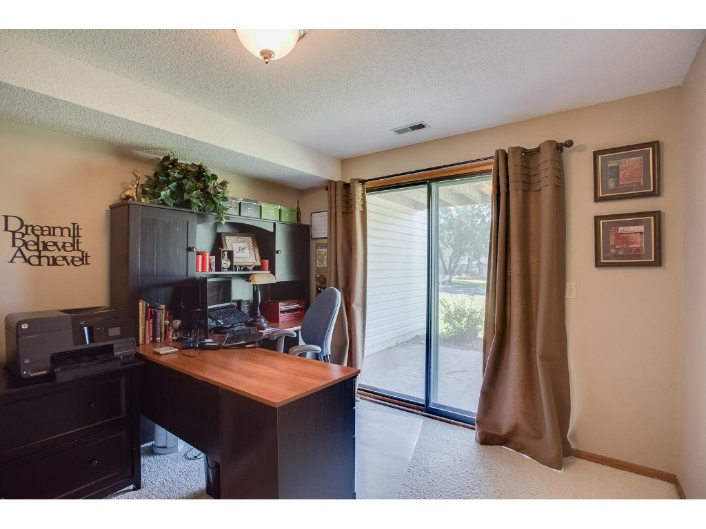 LL (3rd) bedroom/office with sliding glass door to patio