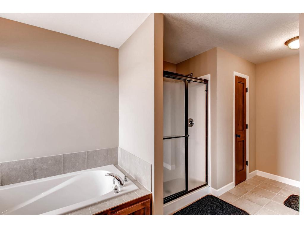 Private, full owner's bath with separate tub and shower!