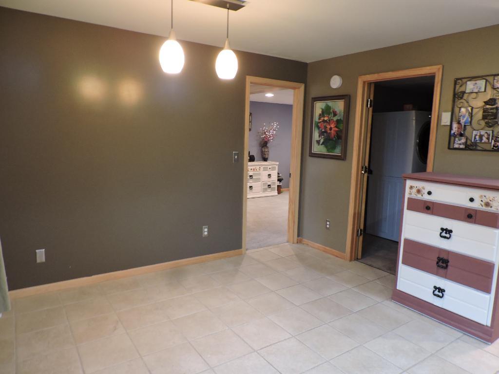Lower level bar/office area