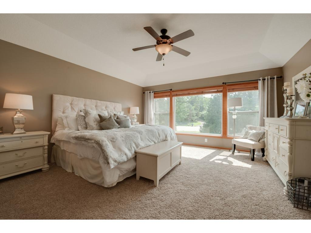 Master bedroom easily accommodates King size bed and oversize Furniture! once again, the oversized windows let in light making this home light and bright throughout!
