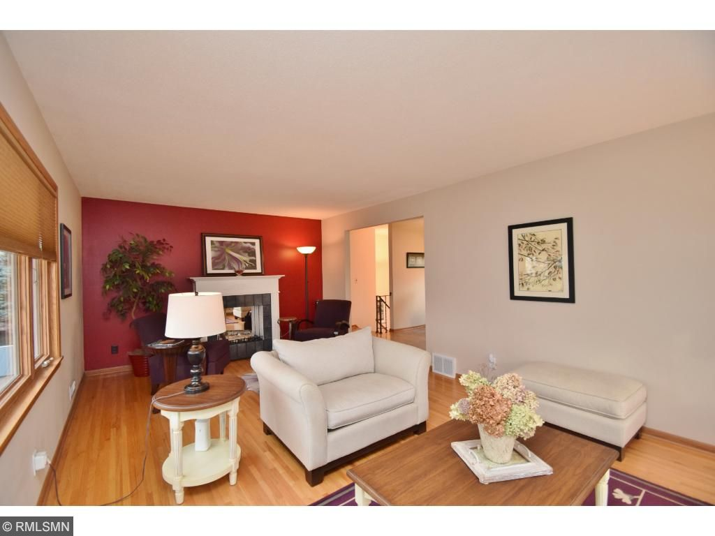 Lovely hardwood floors through out main level living room and bedrooms