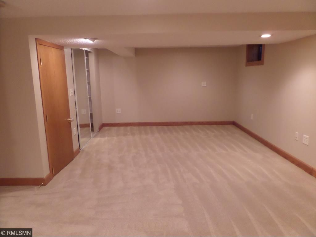 Family room with closet space