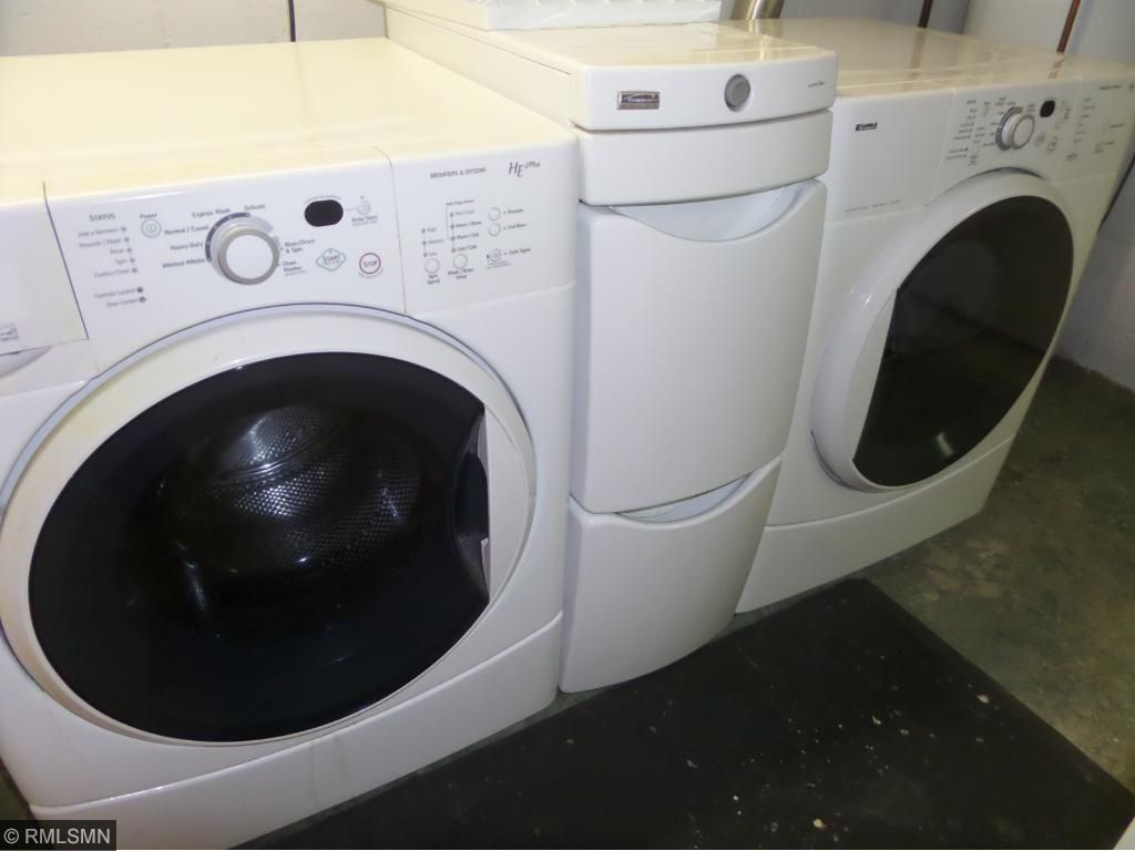 Updated washer and dryer