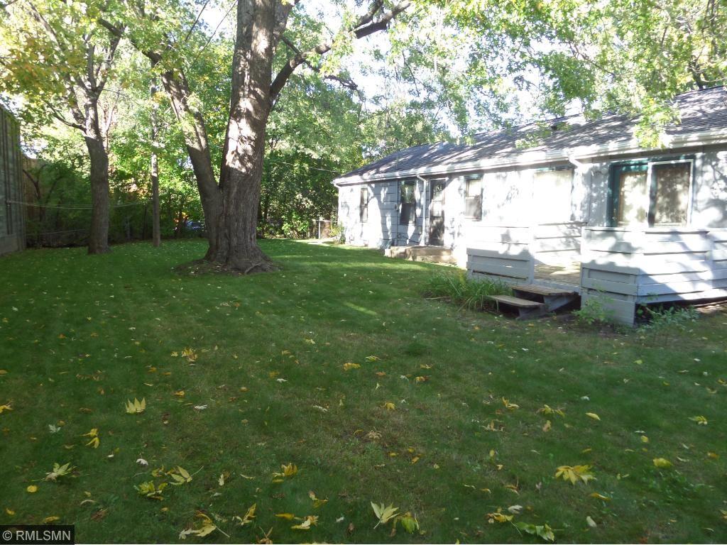 Large back yard!