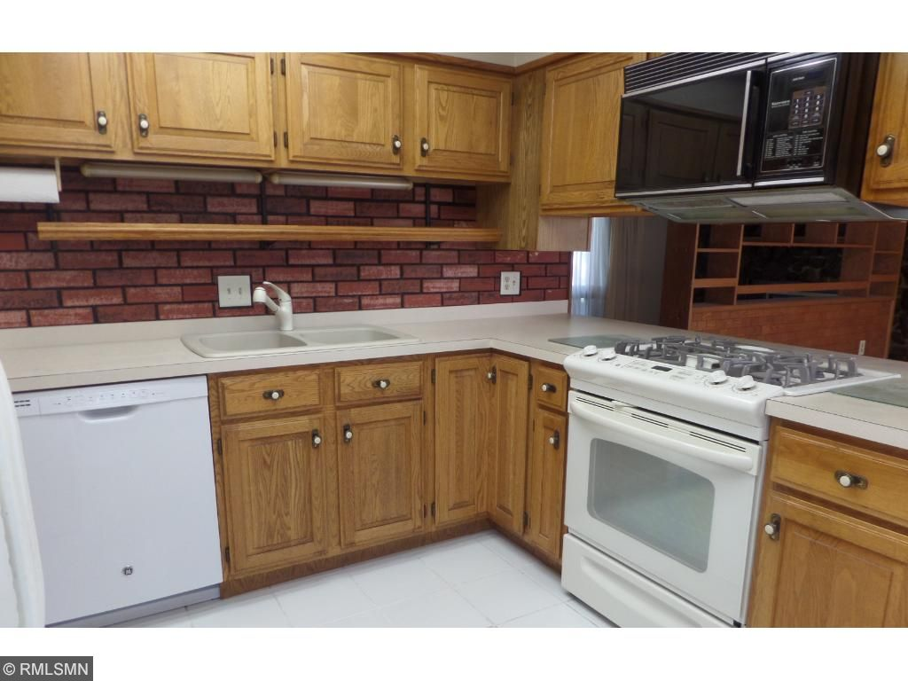 Kitchen with updated stove