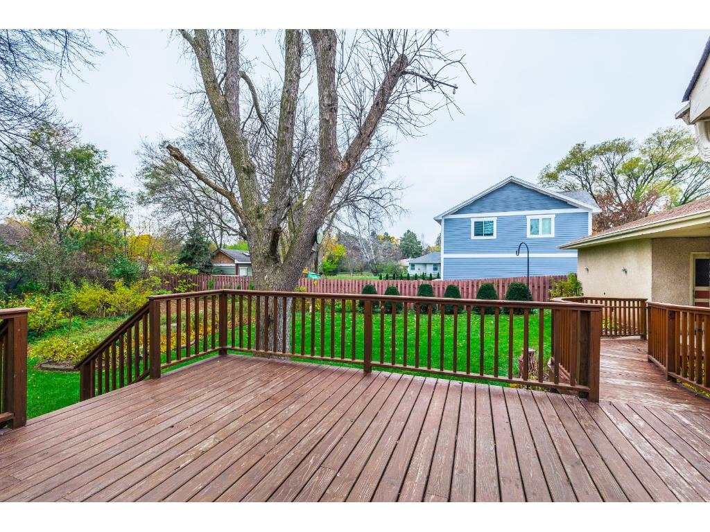 Great deck space for entertaining with easy access to the kitchen.