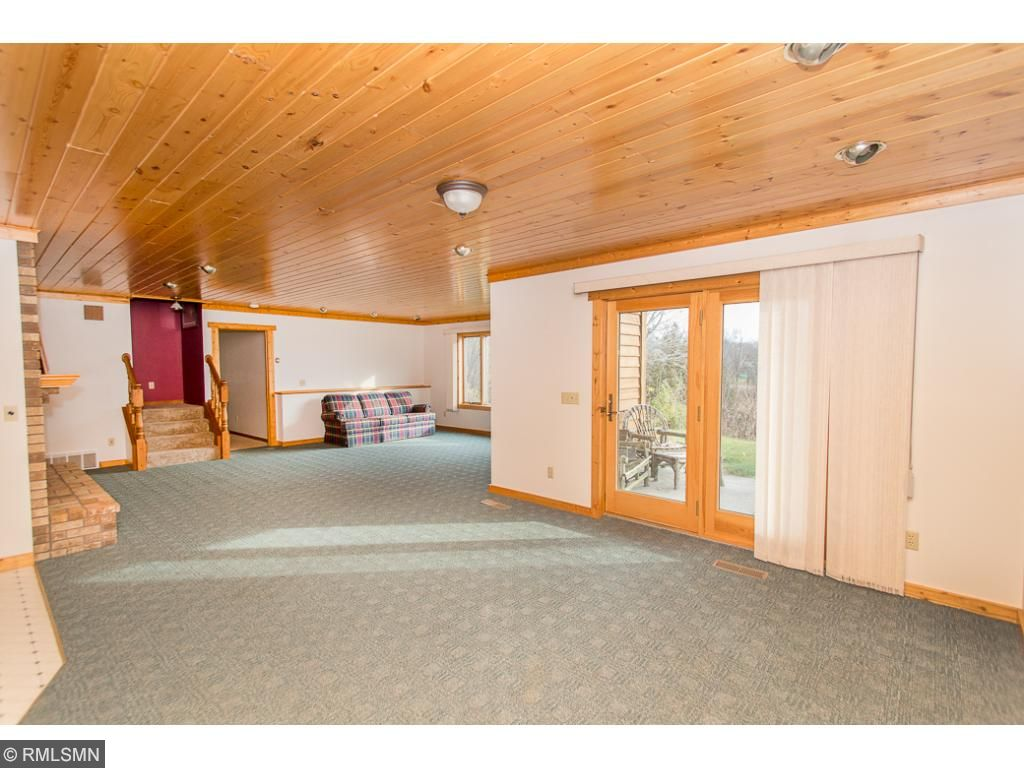 Lower level family room is huge!  Room for pool table or make it a man cave.
