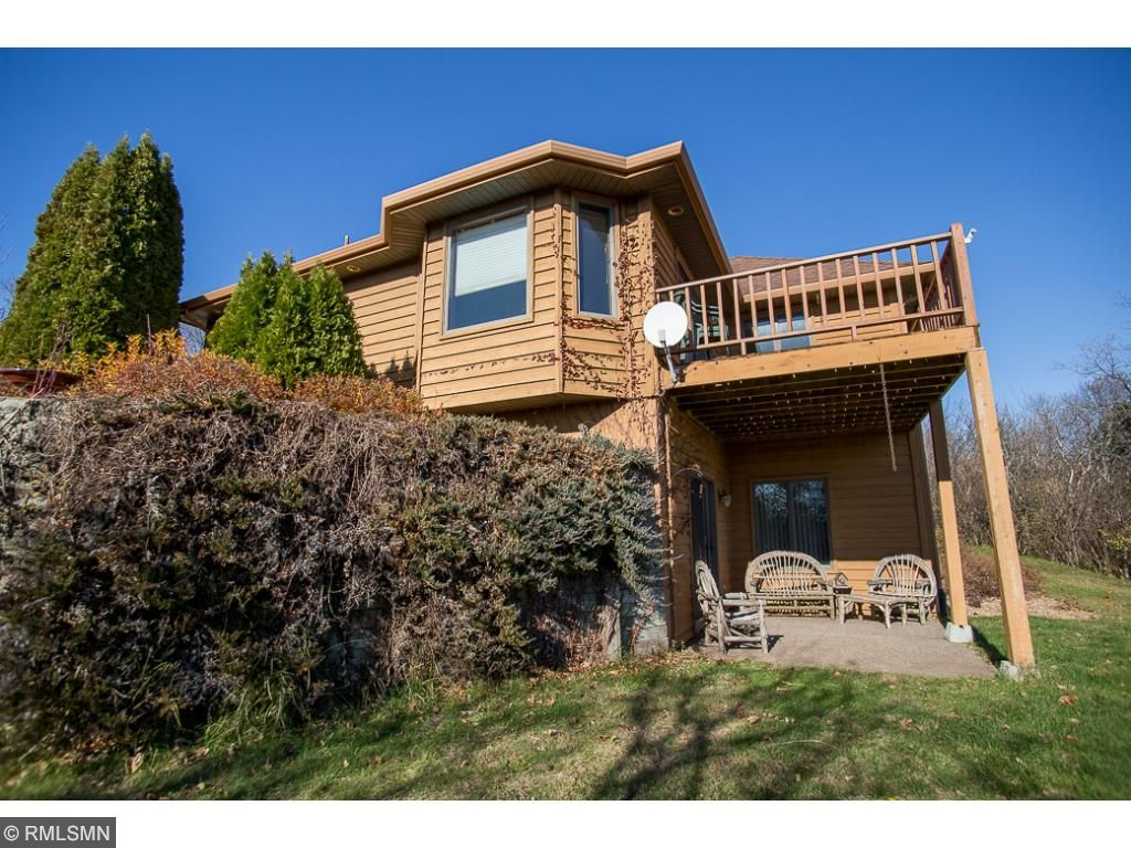 Walk out & deck for the amazing views of the lake & property.