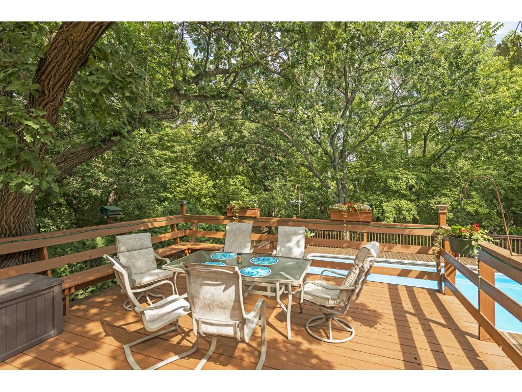 Great deck off the kitchen.
