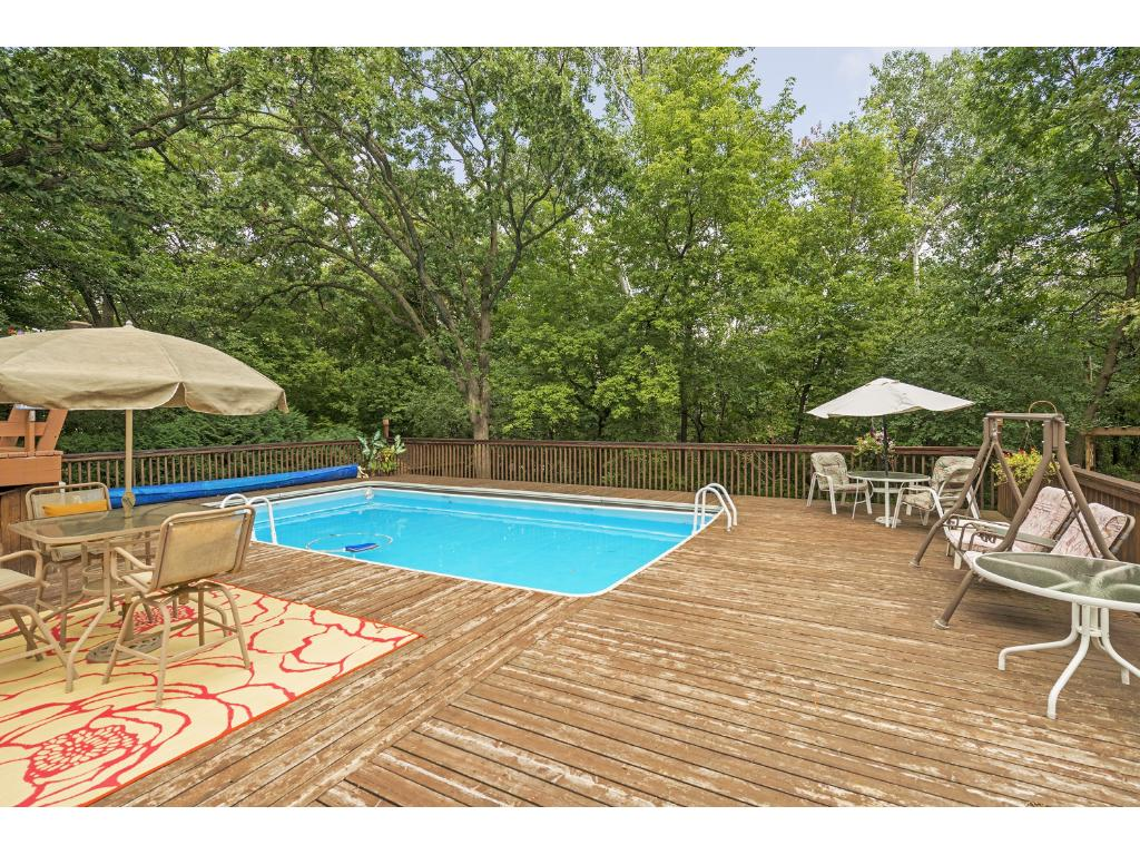 30 x 17 pool surrounded by 47' x 38' pool deck.