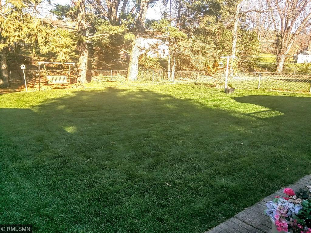 Back yard looks like a golf course