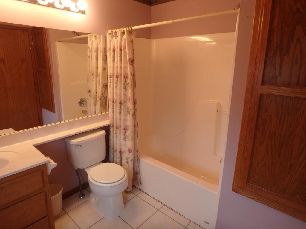Full master bath with tile floor