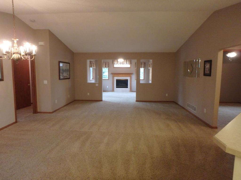 Nice open floor plan!  View as you enter through the front door.  One level living at it's finest!