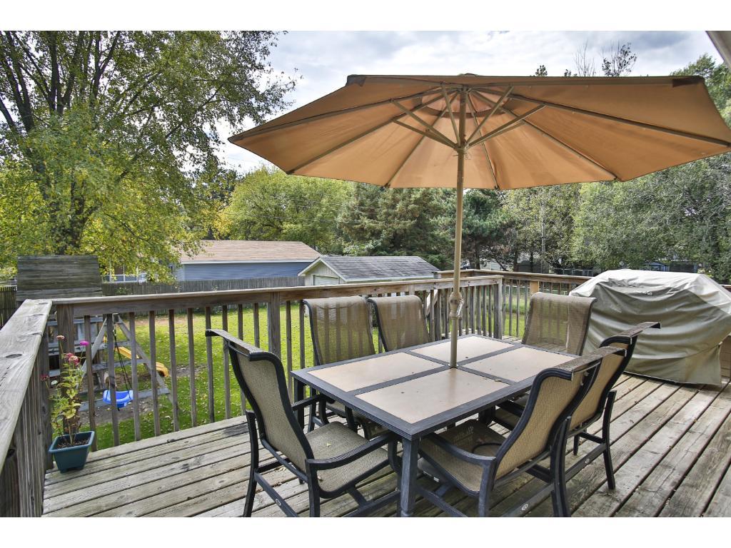 Huge deck to enjoy your outdoor space