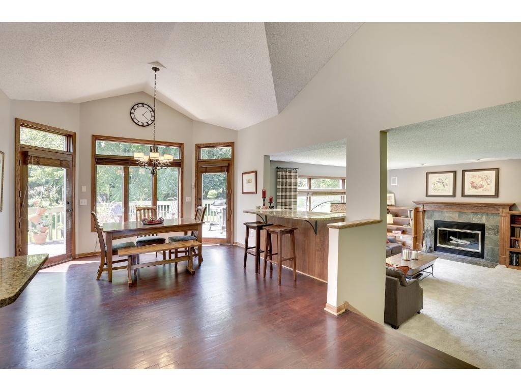 Open concept dining and family room