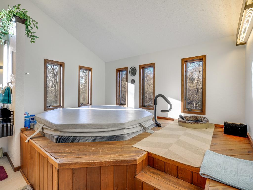 And, more is an Eight Person Hot Tub - all in the Master Bath.