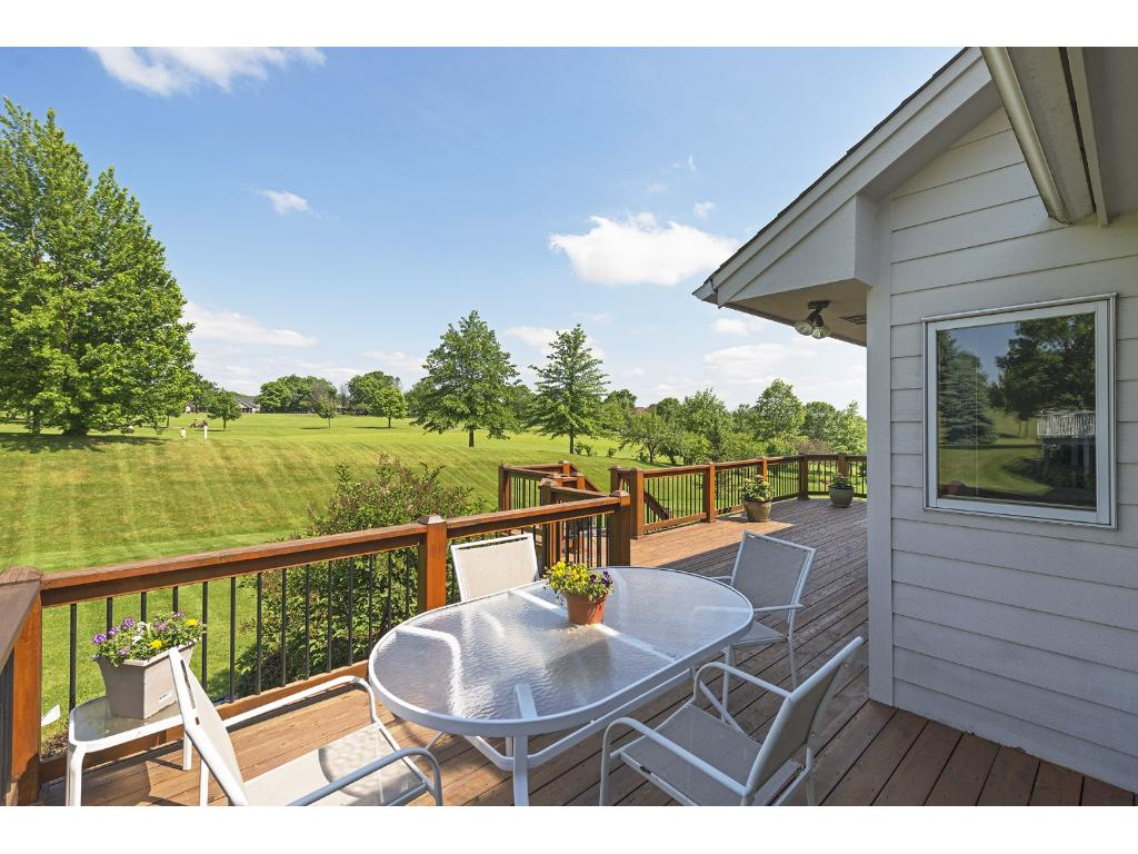Imagine relaxing on your deck watching the golfers...