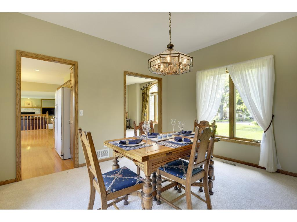 Convenient formal dining for family and friends...