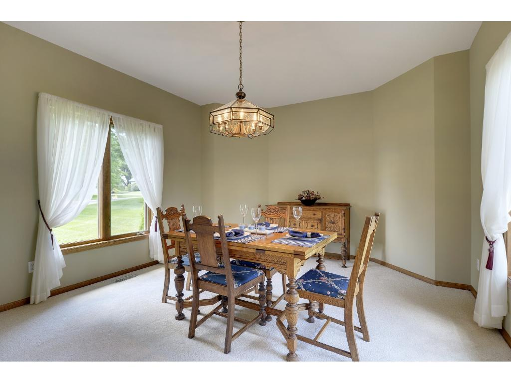 Room to entertain large and small groups in the formal dining...