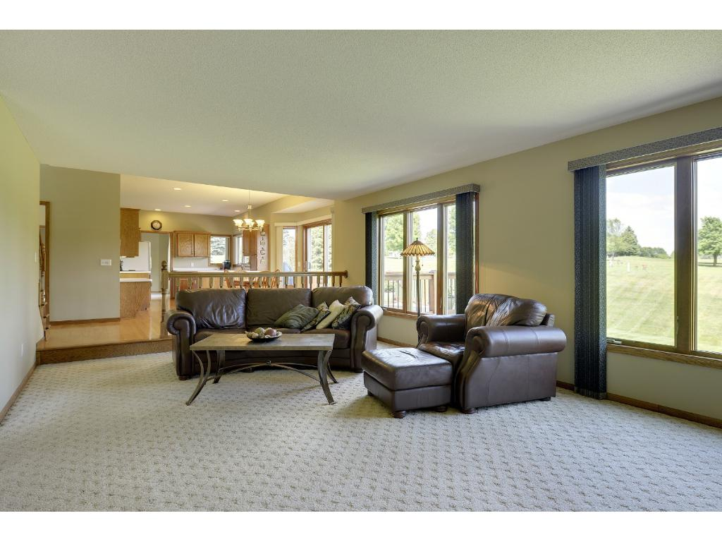 Enjoy being part of the activity as family room is open to kitchen...