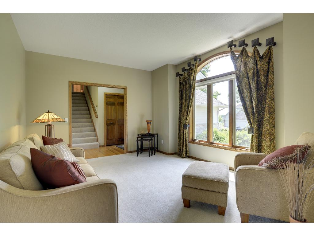 Entertain guests in welcoming living room...