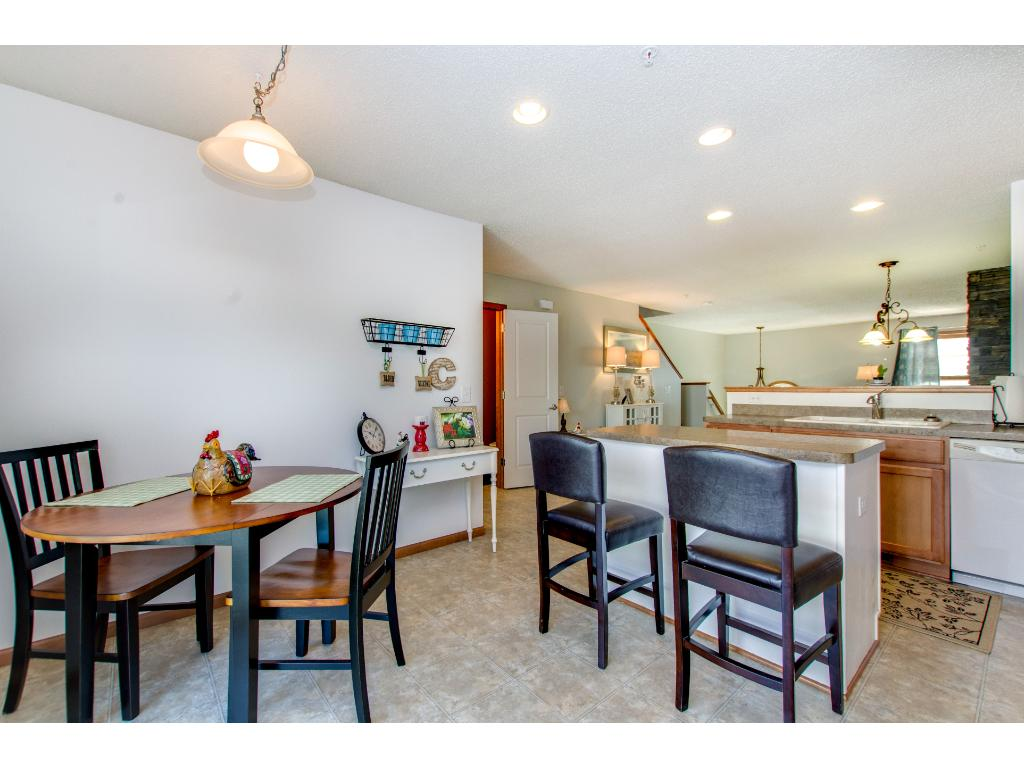 Included in the kitchen area is room for informal dining. This area walks out to the deck.