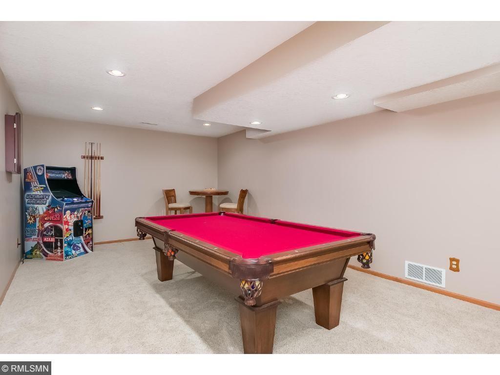 Lower level billiard room
