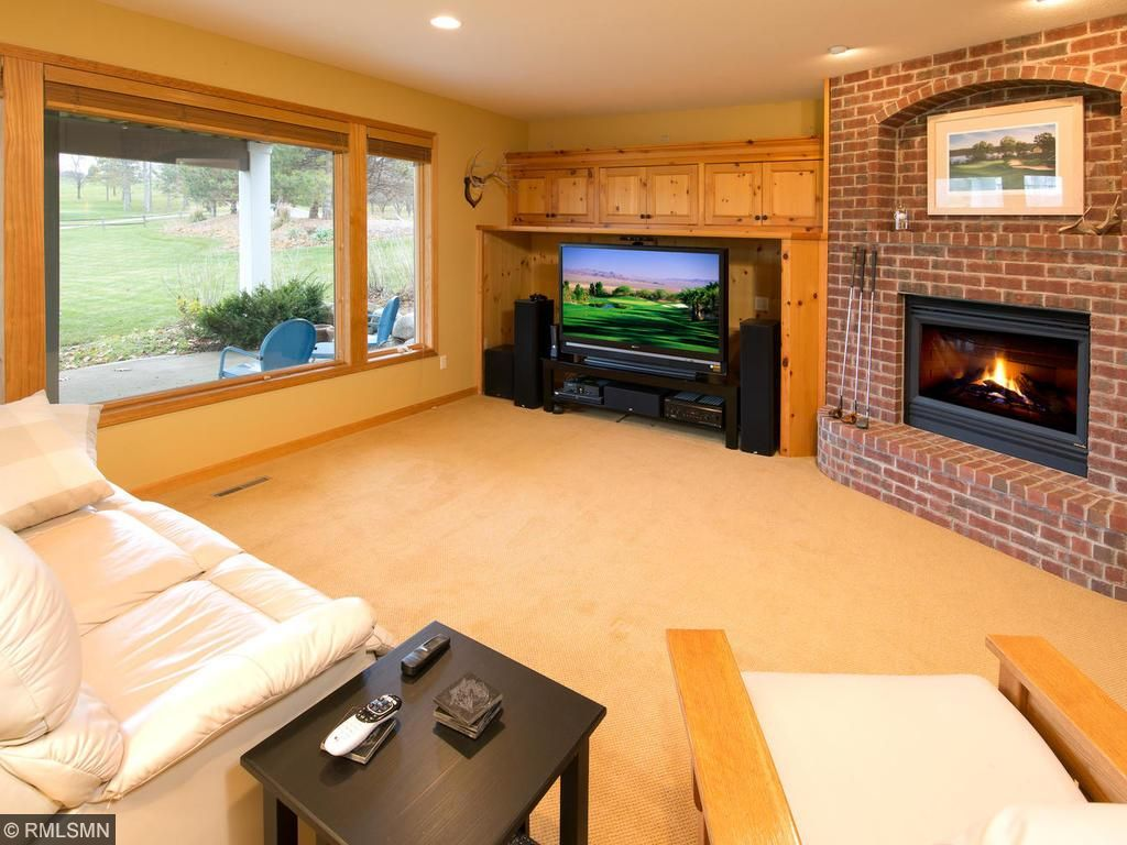 Fireplace, views and media area!