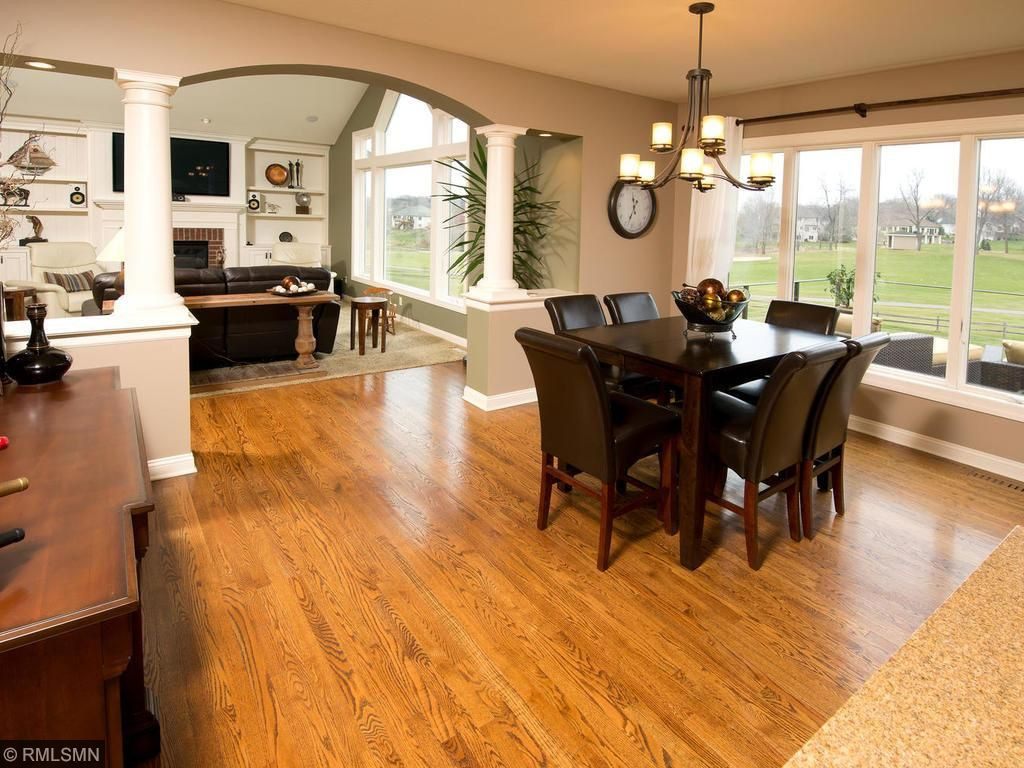 Kitchen opens to Hearth Room and views!