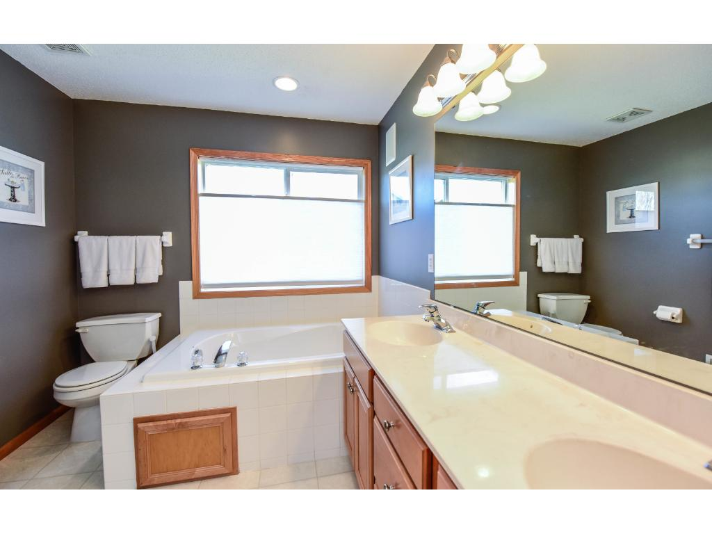 Master bath with separate tub and shower.