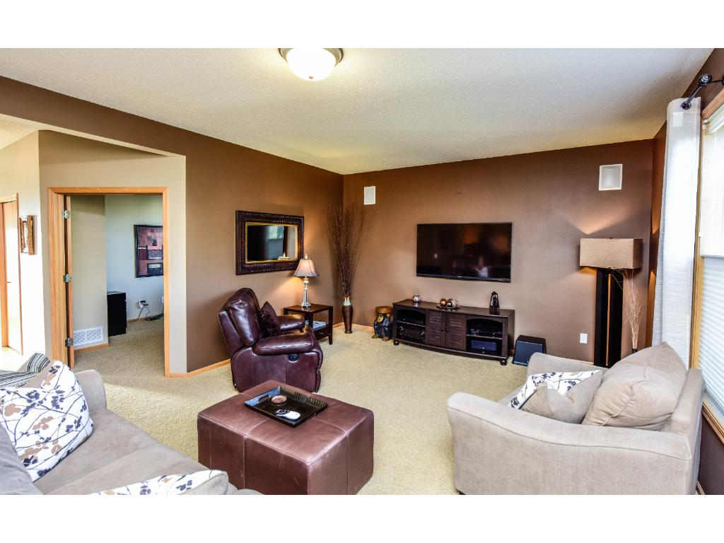 Main level living room compliments the open feel to this home.
