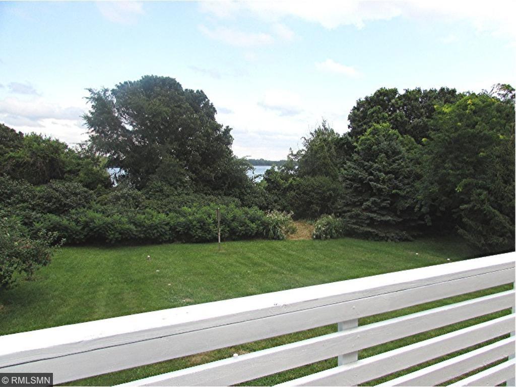 Backyard view from deck, lake access