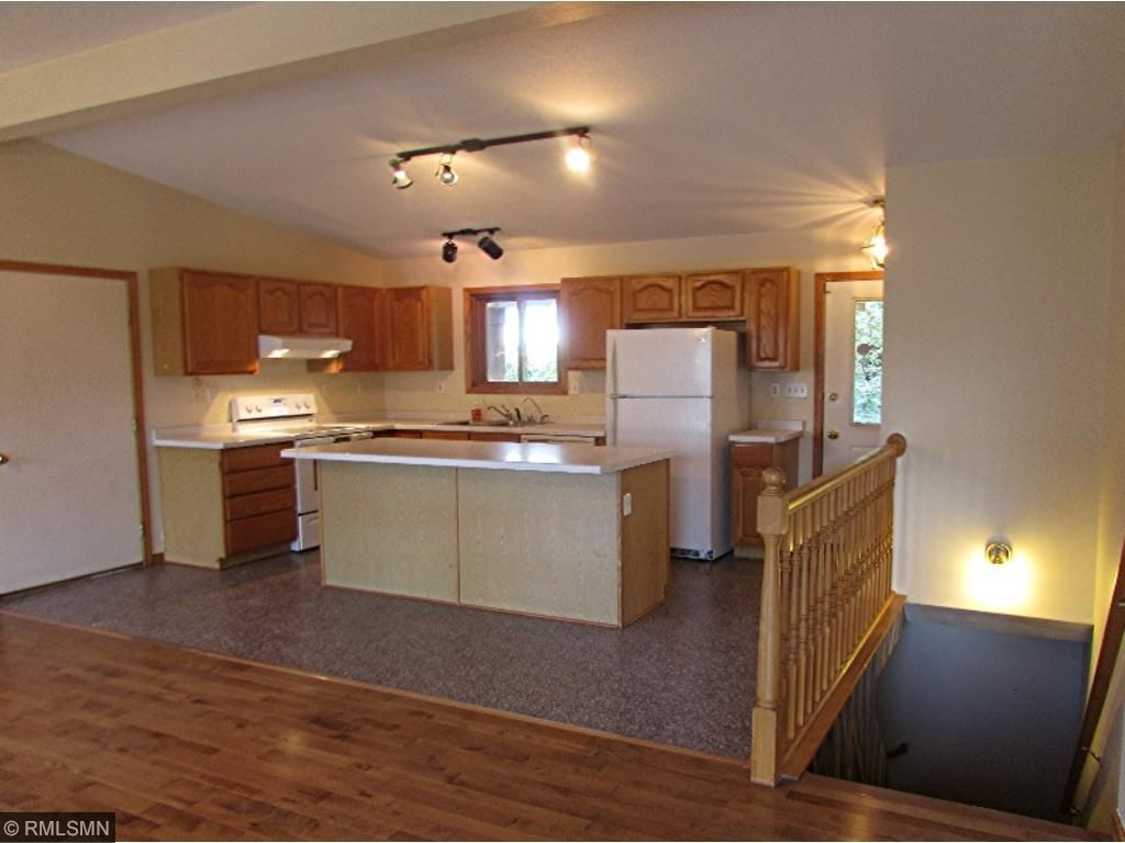 Kitchen from the open Living room/Dining room