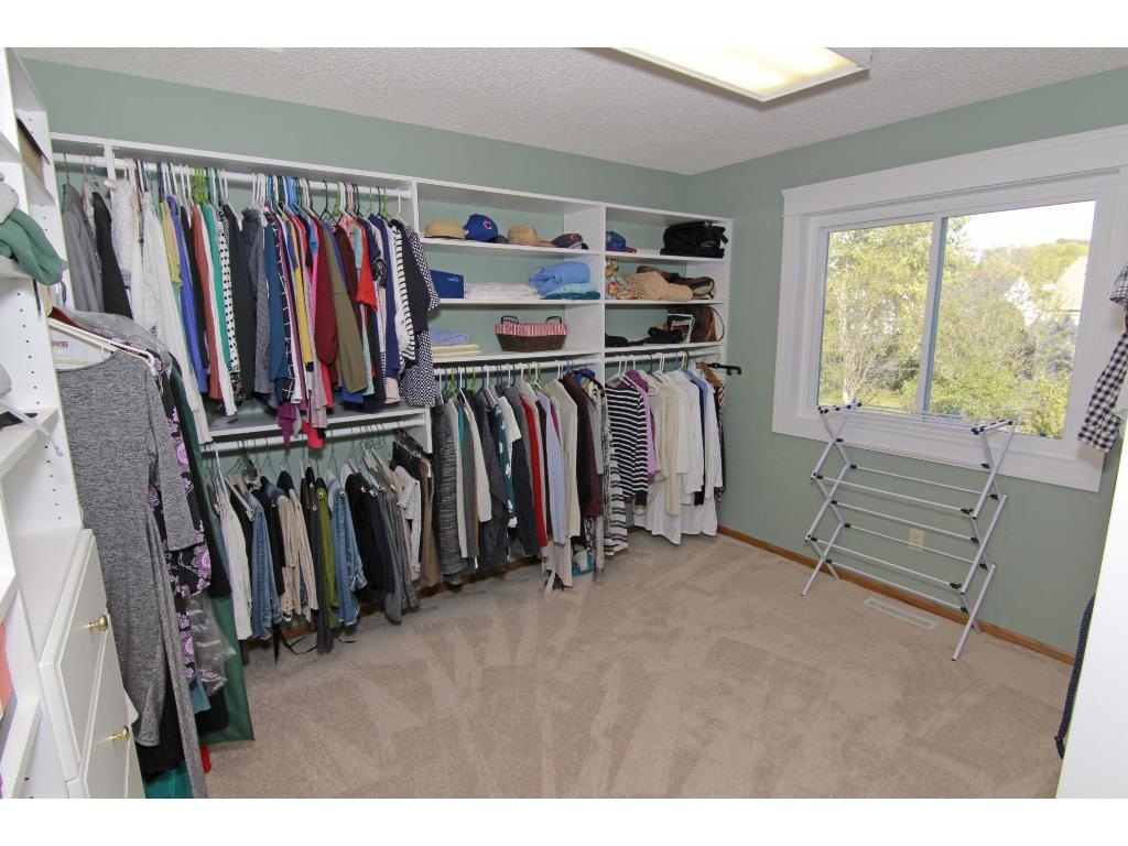 Huge master bedroom walk-in closet could double as a nursery.
