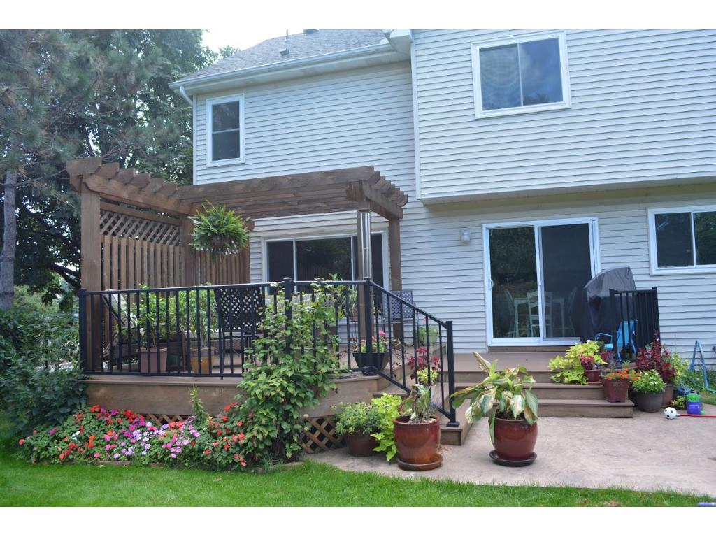 Beautiful flower gardens surround your private deck.