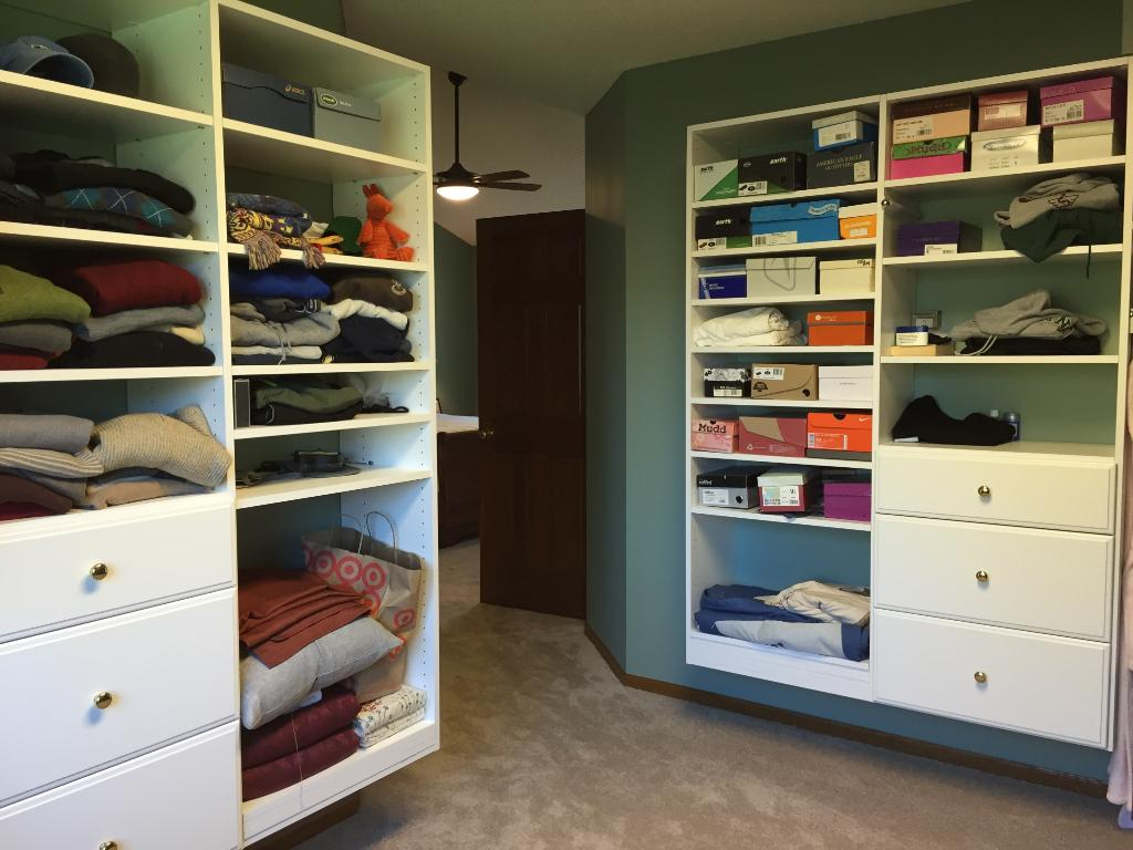 Another view of the large master walk-in closet. Note: there are 2 walk-in closets in the master suite