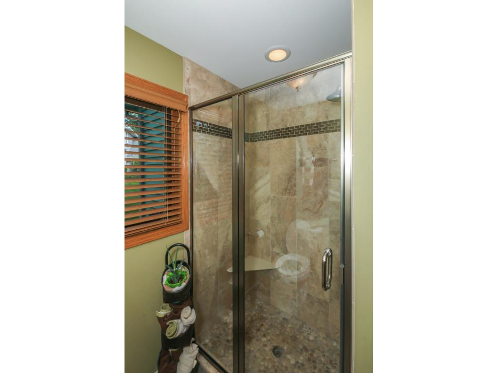 Beautiful updated tile shower.