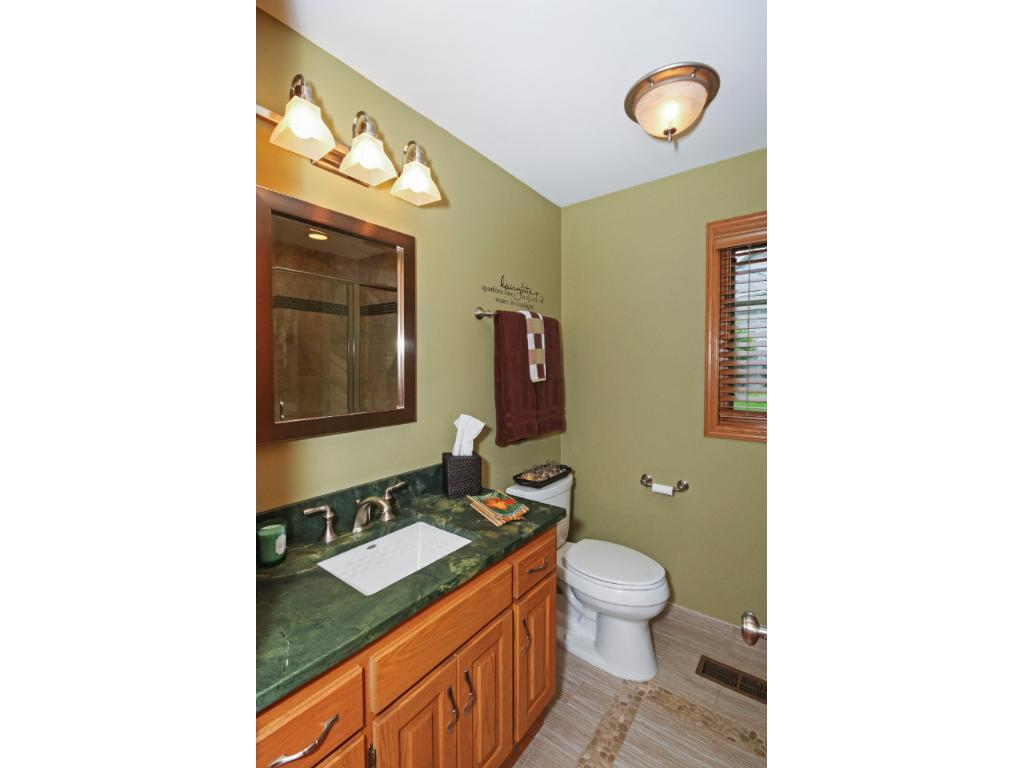 With a bath on each level, there is not need to run up and down stairs.