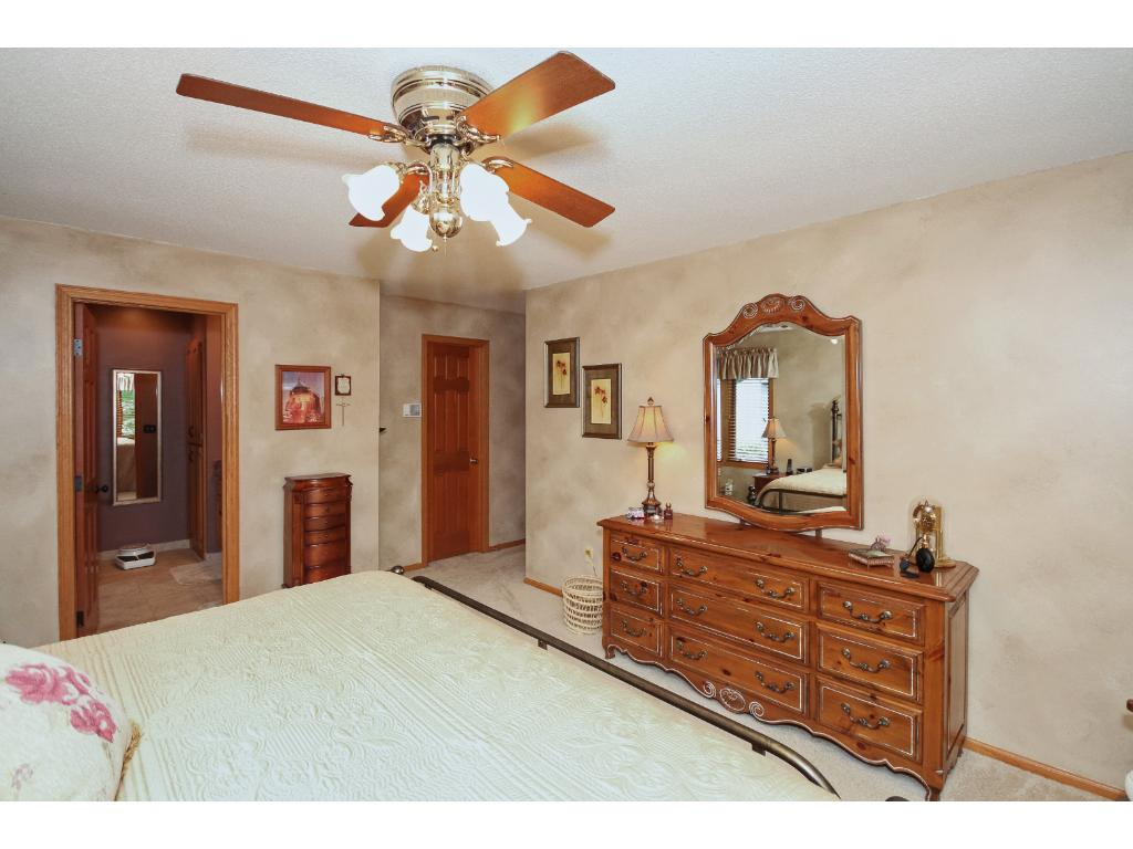 The full, private master bath is just steps away.