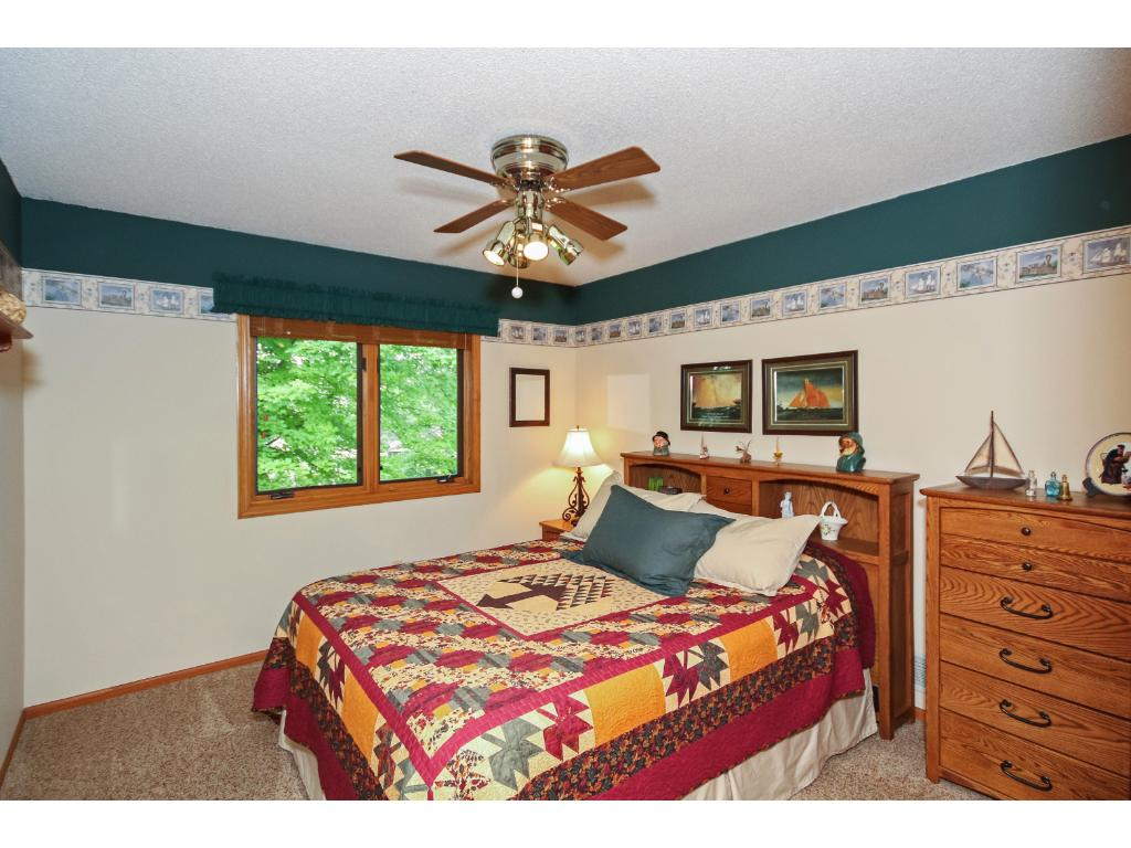 Both bedrooms on the upper level are equally roomy and comfy.