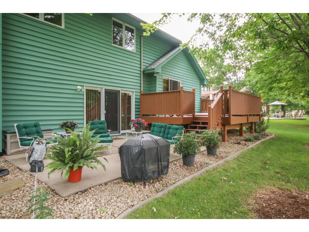 Beautiful patio off of the deck with plenty of room for all of your outdoor furniture.