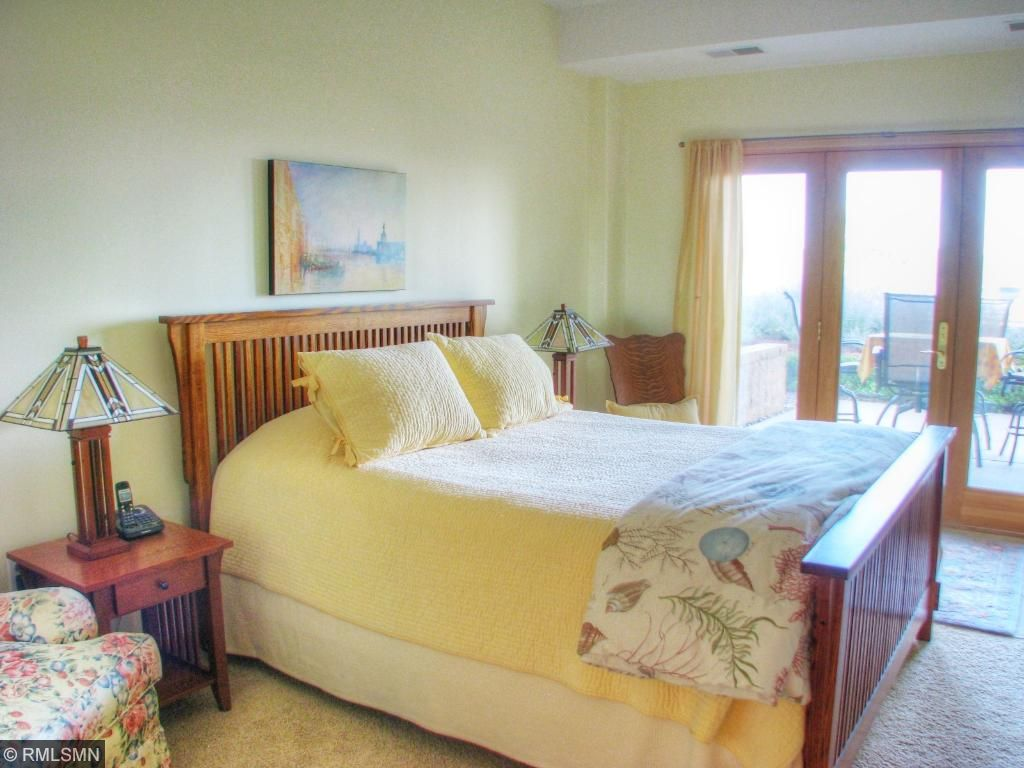 Master suite with views of Lake Pepin