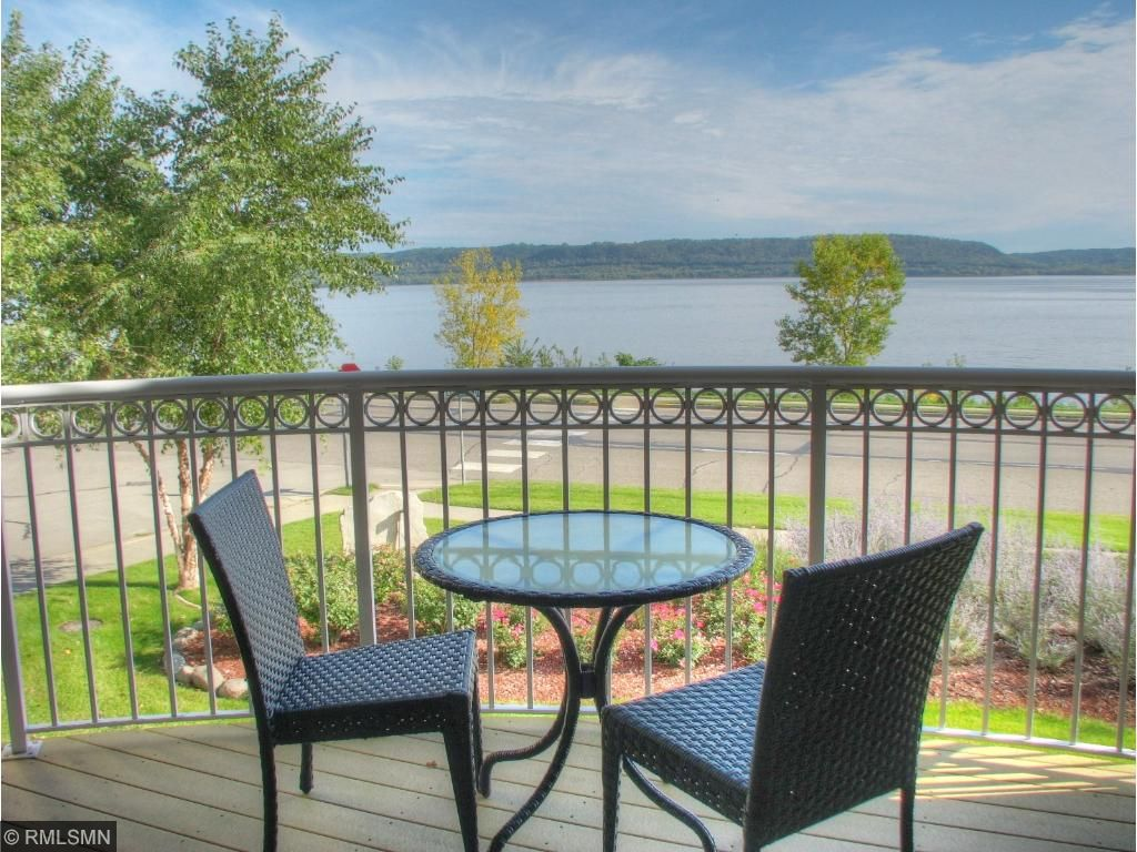 Private Patio with views of Lake Pepin!