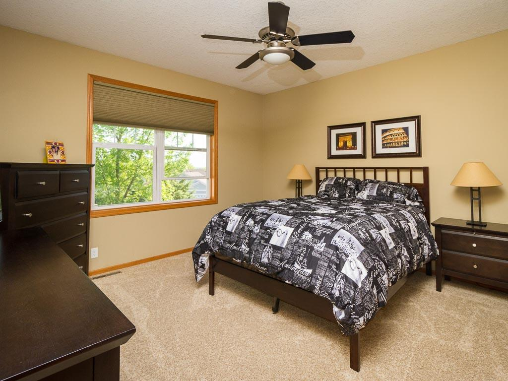 Oversized master suite with large walk-in closet and remodeled master bath.
