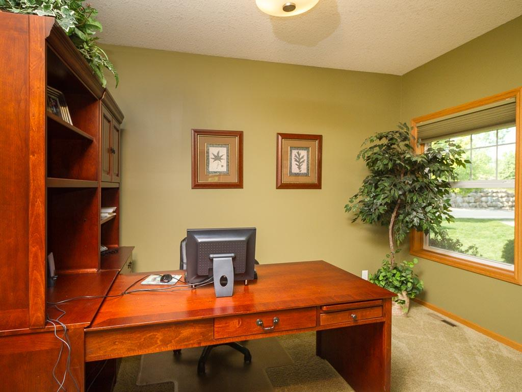 This home features a main floor separate office/den.