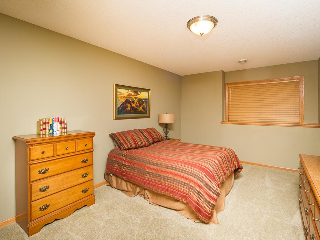 Additional large bedroom in the lower level.