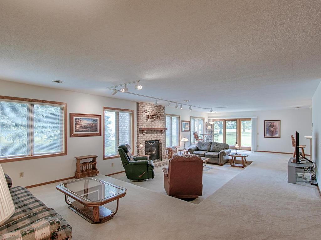 Huge lower level family room perfect for entertaining