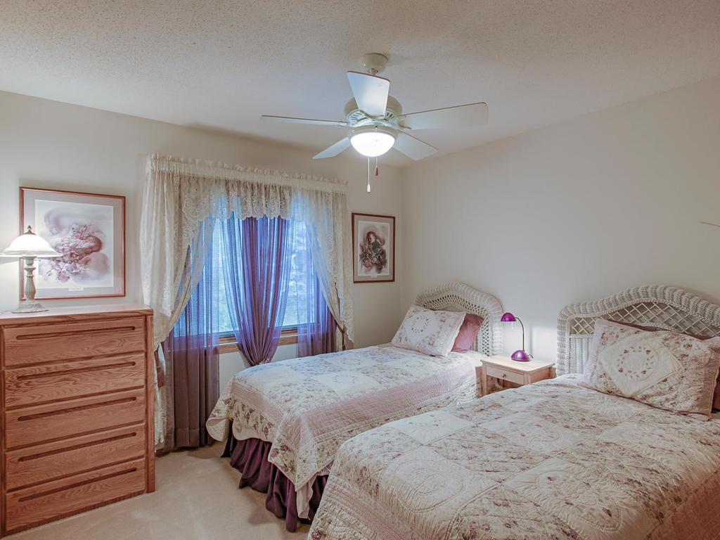 One of two bedrooms on main level